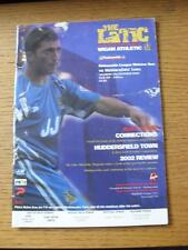 21/12/2002 Wigan Athletic v Huddersfield Town  (Heavy Creased, Marked).
