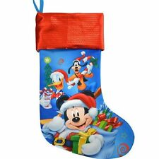 "Disney Mickey Donald Goofy 18"" Jersey Merry Christmas Stocking with Sequins Cuff"
