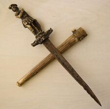 Vintage Scottish Masonic Freemasonry Ritual Sacrifice Brass Dagger Athame Wicca