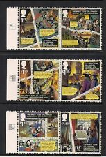 2016 GB QEII GREAT FIRE OF LONDON COMMEMORATIVE STAMP PAIRS WITH GUTTER MNH