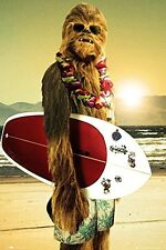 STAR WARS - CHEWIE SURF BOARD POSTER - 24x36 - SURFING 50713