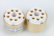 1piece gold plated 6SN7 B65  to Mullard ECC88 6922 6DJ8 Tube converter adapter