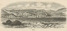 C8331 Turkey - Kars - General view - Stampa antica - 1892 Engraving