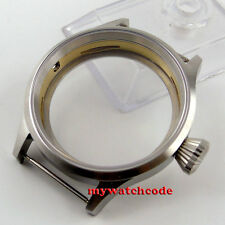 43mm sterile steel parnis Watch CASE sapphire glass fit 6498 6497 eat movement 3