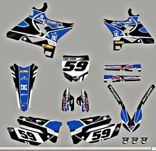 Yamaha UFO Restyled YZ125-250 TECHNO Graphics kit with your number on plates