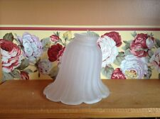 Vintage angled white frosted glass tulip shape lamp light shade