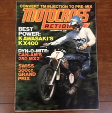 MOTOCROSS ACTION SEPTEMBER 1975 KAWASAKI KX400 CAN-AM MX-2 250 500cc GP & NATS