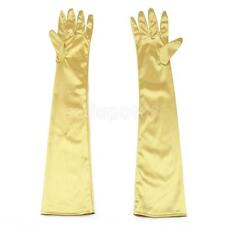 LONG STRETCH SATIN BRIDAL WEDDING COSTUME DANCE PROM DRESS OPERA GLOVES NEW