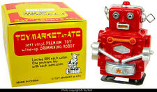 Drumming Robot miniature white-knob RED Toy Market ATC boxed new old stock