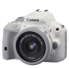 New CANON EOS 100D (SL1) 18.0MP DSLR (White) + 40mm STM Lens Kit + Free Express