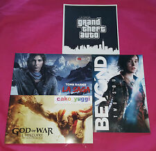 LOT 4 ARTBOOKS TOMB RAIDER + GOD OF WAR + GTA LA SAGA + BEYOND TWO SOULS