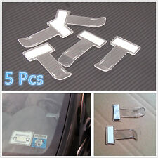 5 X Portátil Coche SUV Parabrisas boleto de estacionamiento Nota Clips titular 3M Adhesivo Kits