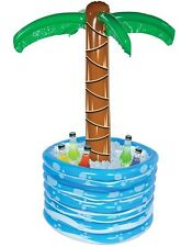 "48"" Inflatable Palm Tree In Pool Hawaiian Luau Decor Cooler"