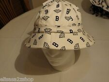 Diamond Supply CO RARE Mens adult sun bucket hat cap white B Made USA surf skate