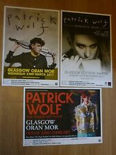 Patrick Wolf Scottish tour Glasgow concert gig posters x 3