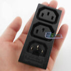 IEC 320 2*C13/C14 2pin 3pin Combined Inlet/Outlet Useful Plug Socket Plastic