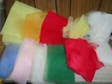 Large Lot of Nylon Mesh Net Tulle Fabric for Crafts ~ Many Colors