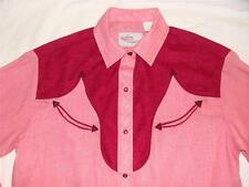 NICE WOMEN'S KENNY ROGERS by KARMAN WESTERN SHIRT RED SZ 34 11/12~ MADE IN USA