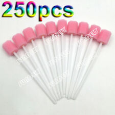 250x Hi-Q Oral Foam Swabs Mouth Cleansing Tooth Foam Swab Lollipops Cotton Swab