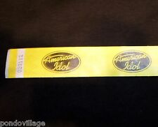 AMERICAN IDOL Official Credential YELLOW tyvek Wristband. NEW, Never Worn!
