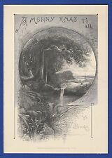 KAPPYSSTAMPS PCC3 VINTAGE PRINT CICA 1900 MERRY XMASS LOWELL & CO BOSTON