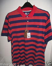 TIMBERLAND BLUE ORANGE SHORT SLEEVE SLIM FIT POLO TOP SIZE XXL NWT RRP£50