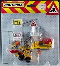 Matchbox Construction Playset MOC German Release Baustelle CS80
