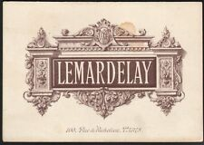 Menu. Paris - Restaurant Lemardelay. 28 mai 1886