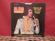 """Elvis Presley (1975 VG+) """"Pieces of My Life"""" RCA Pic Sleeve # PB 10401 See Pics"""