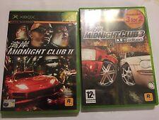 2x ORIGINAL COMPLETO PAL XBOX carrera Juegos Midnight Club II 2 & 3 III edición Dub