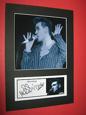MORRISSEY THE SMITHS A4 PHOTO MOUNT SIGNED PRE-PRINTED JOHNNY MARR CD TICKET
