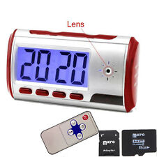 HD Alarm Clock Camera Hidden Nanny Motion DVR Remote Control N Video +8G TF Card