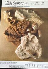 "Peter Gregory  Aran Knitting Pattern  707 babies Boys Jumper Sweater Size 20/28"""