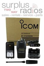Icom F2000S 23 4W 128CH UHF 450-512MHZ IP67 dust-tight Submersible Radio Police