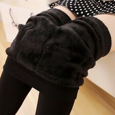 Warm Fleece lined Women's Thick Fur Winter Tight Pencil Leggings Sexy Pants
