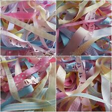 10mm - 25mm Mixed Pastel Decorative Ribbons 10 X 1Mtr by Berisfords
