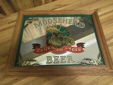 "MOOSEHEAD Beer Canadian Lager- Mirror Sign Wall Hanging Advertising 18""x15"""