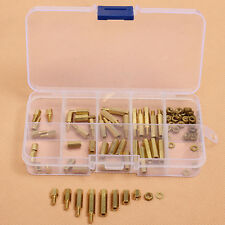 88pcs PCB M3 Hex Male Female Threaded Brass Spacer Standoffs Screw Nut Assortmen