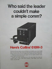 9/1973 PUB COLLINS RADIO COMPANY 618M-3 VHF TRANSCEIVER COMMUNICATIONS AD