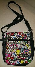 Neon Star by tokidoki Owl Crossbody Bag Bright Colors Anime with pin Excellent!