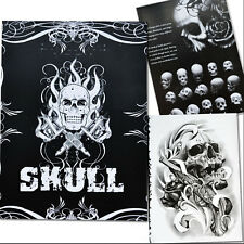 76 Pages Selected Skull Design Sketch Flash Book Tattoo Art Supplies SK