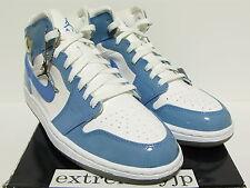 DS 2003 NIKE AIR JORDAN 1 RETRO Patent white/university blue 136085-140 sz 9