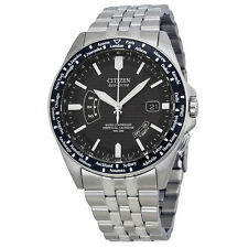 Citizen World Perpetual AT Eco-Drive Stainless Steel Mens Watch CB0020-50E
