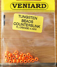 Tungsten Beads 25 Stück Veniard 4 mm fluo orange