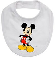 BABY BIB cotton printed with MICKEY MOUSE on cotton baby bib