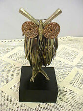 Vintage Collectible Owl Figurine Raul Zuniga Fork Sculpture 1972 Signed