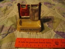 Vintage Laundry matches / cigarette / coin holder ashtray JAPAN L@@K RARE