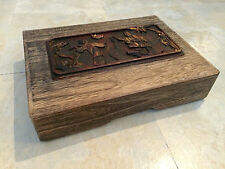 Chinese Wood Carving Wooden Box Rare!!! Collectible!!!!!!!