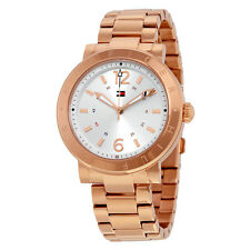 Tommy Hilfiger Aubrey Silver Dial Rose Gold Stainless Steel Ladies Watch 1781621