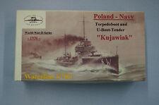 HP Models 1:700 Waterline Poln. Torpedoboot und U-Boot-Tender Kujawiak -1936-